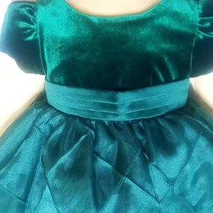 Holiday dress Rare Edition 6 months green velvet